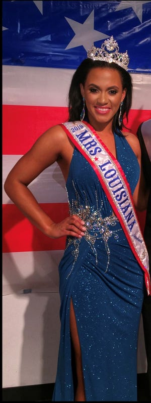 Alana Rainey, a local school counselor, recently won 2019 Mrs. Louisiana. Her next goal is to win Mrs. America.
