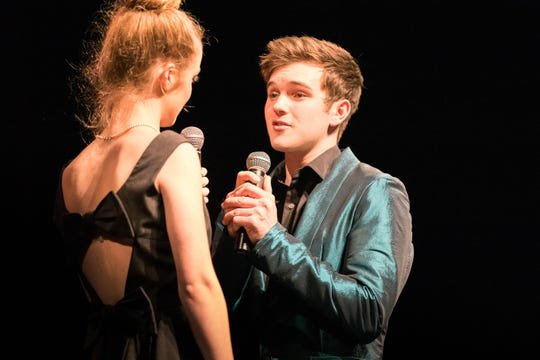 Ben Tyrrell performs a duet during an end-of-the-year concert with The Music Box. He received a performing arts scholarship to study musical theater at the University of Arizona.