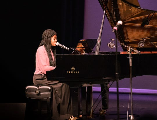 Noa Jamir performs at an end-of-the-year concert for The Music Box. She received a performing arts scholarship at Loyola University New Orleans.
