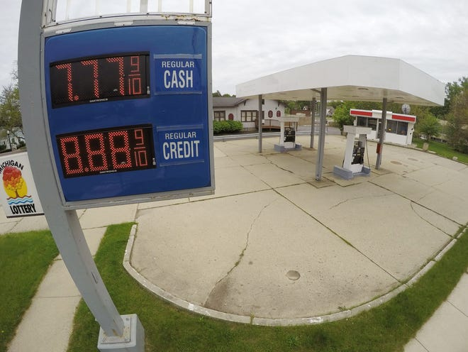 Renovation of a gas station at the corner of Grand River Avenue and Barnard Street in Howell, shown Tuesday, May 21, 2019, was planned. But city officials revoked permits due what they said was inaction and delays.