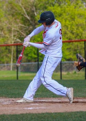 Brighton's Zach Hopman hit four home runs in a doubleheader sweep of Ann Arbor Pioneer.