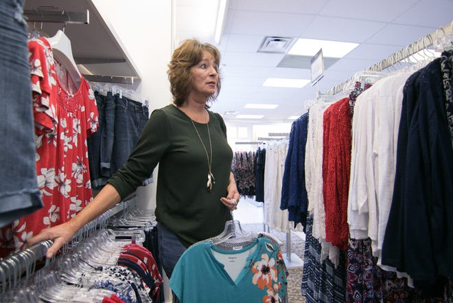 Dressbarn customer Cindy Deere, shopping Tuesday, May 21, 2019 in the Tanger Outlets store in Howell Township, was disappointed to hear that the retailer announced it will be closing all of its stores nationwide.