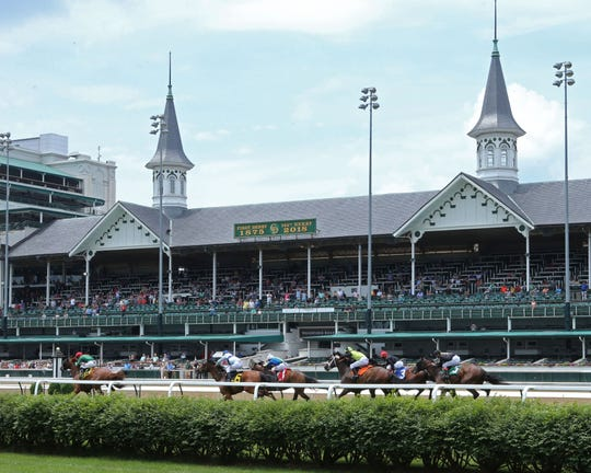 Racing at Churchill Downs.