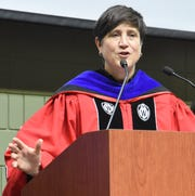 Dr. Morna K. Foy, president of the Wisconsin Technical College System, shared her optimism about the graduating students at LTC's spring commencement May 18.