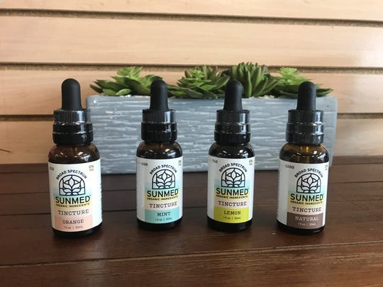 Different flavors of CBD tinctures offered at Your CBD stores include orange, mint, lemon and natural.