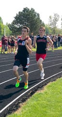Lucas senior Gavin Shindeldecker won his first district title in the 1600 and has also qualified for regionals in the 800.