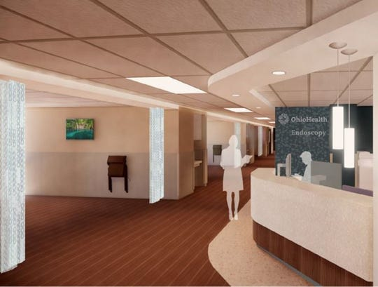 A preliminary rendering of the Endoscopy Unit at OhioHealth's medical campus on Delaware Avenue once renovations are completed this summer.
