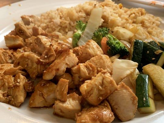 Sesame chicken from Tokyo Inn, Marco Island.