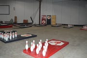 Fowling is a game that combines the sports of football and bowling.