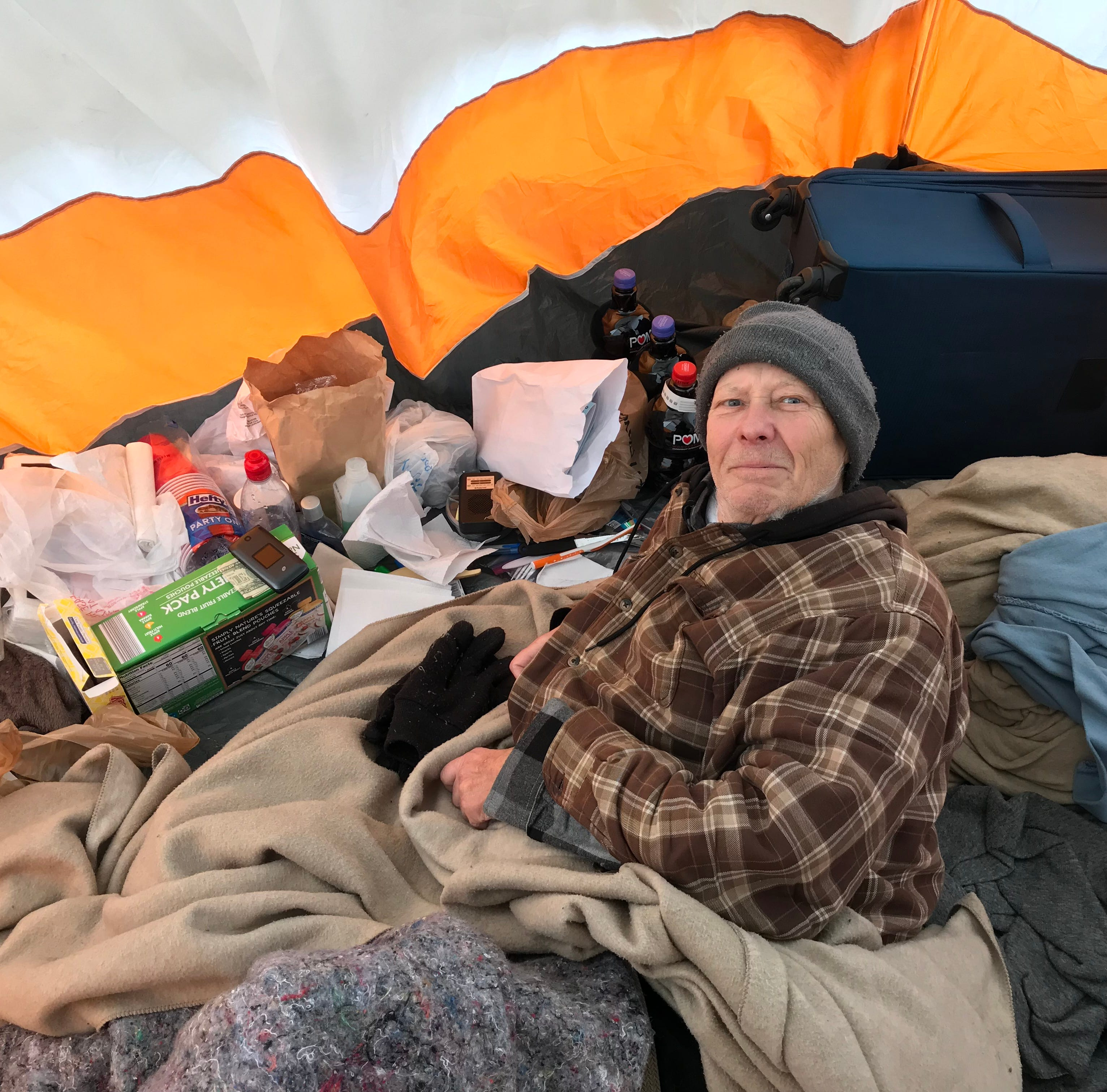 Homeless cancer patient in 'living hell' tries to make best of it in once-again sprawling 'Tent City'