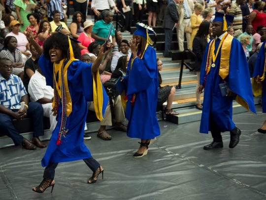 Booker T. Washington Magnet School graduation at Auburn University Montgomery in Montgomery, Ala., on Monday, May 20, 2019.