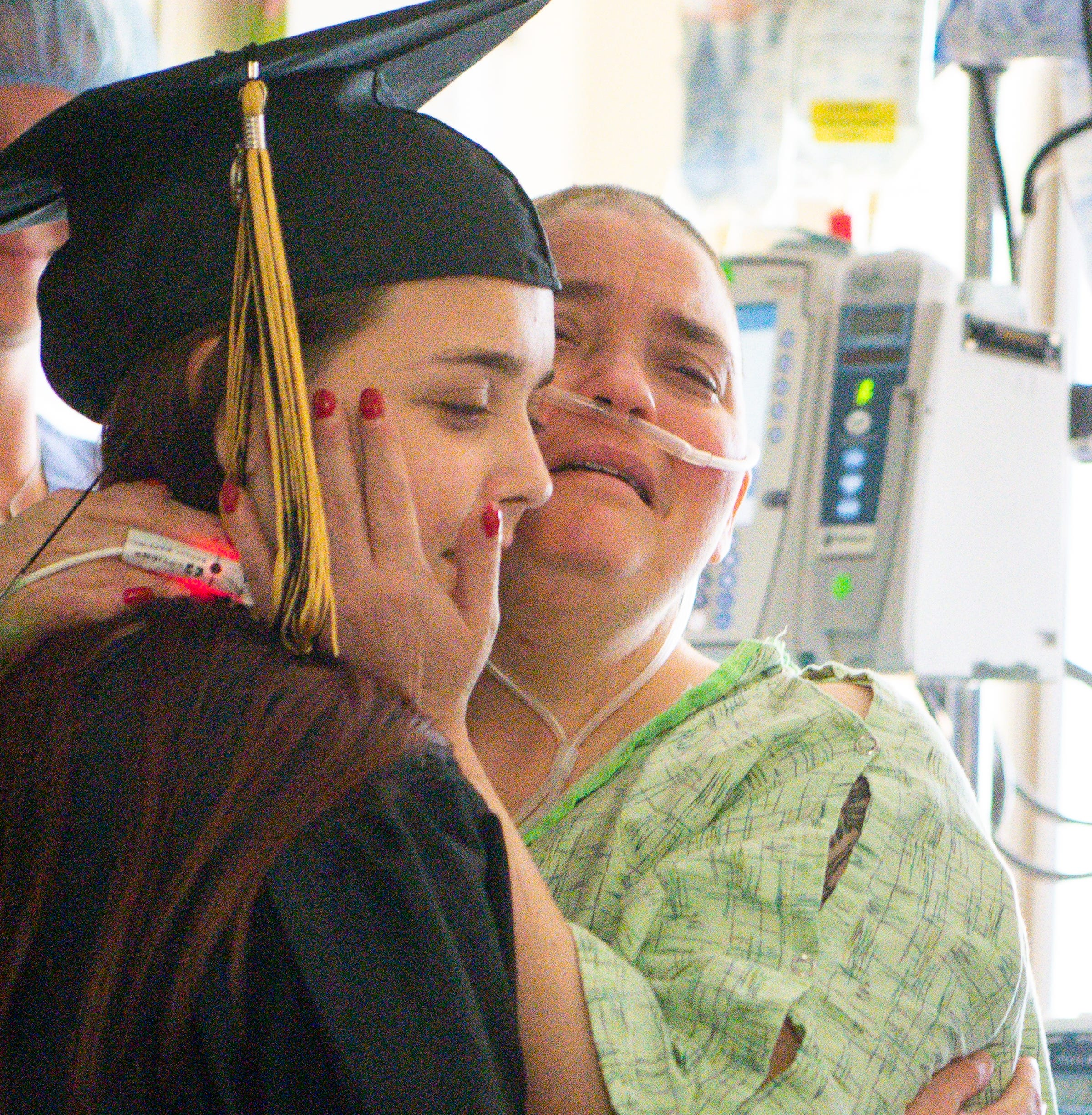 When mom in hospital couldn't attend daughter's graduation, they brought the ceremony to her