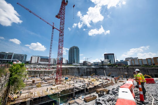 The BroadWest construction site in Nashville, Tenn., Tuesday, May 21, 2019.