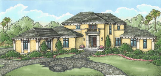 Rendering of Casa Bordolino model completed in Quail West by Stock Custom Homes.
