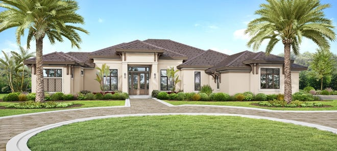The Lancaster model home located on over an acre of property is priced at $3,995 million furnished .