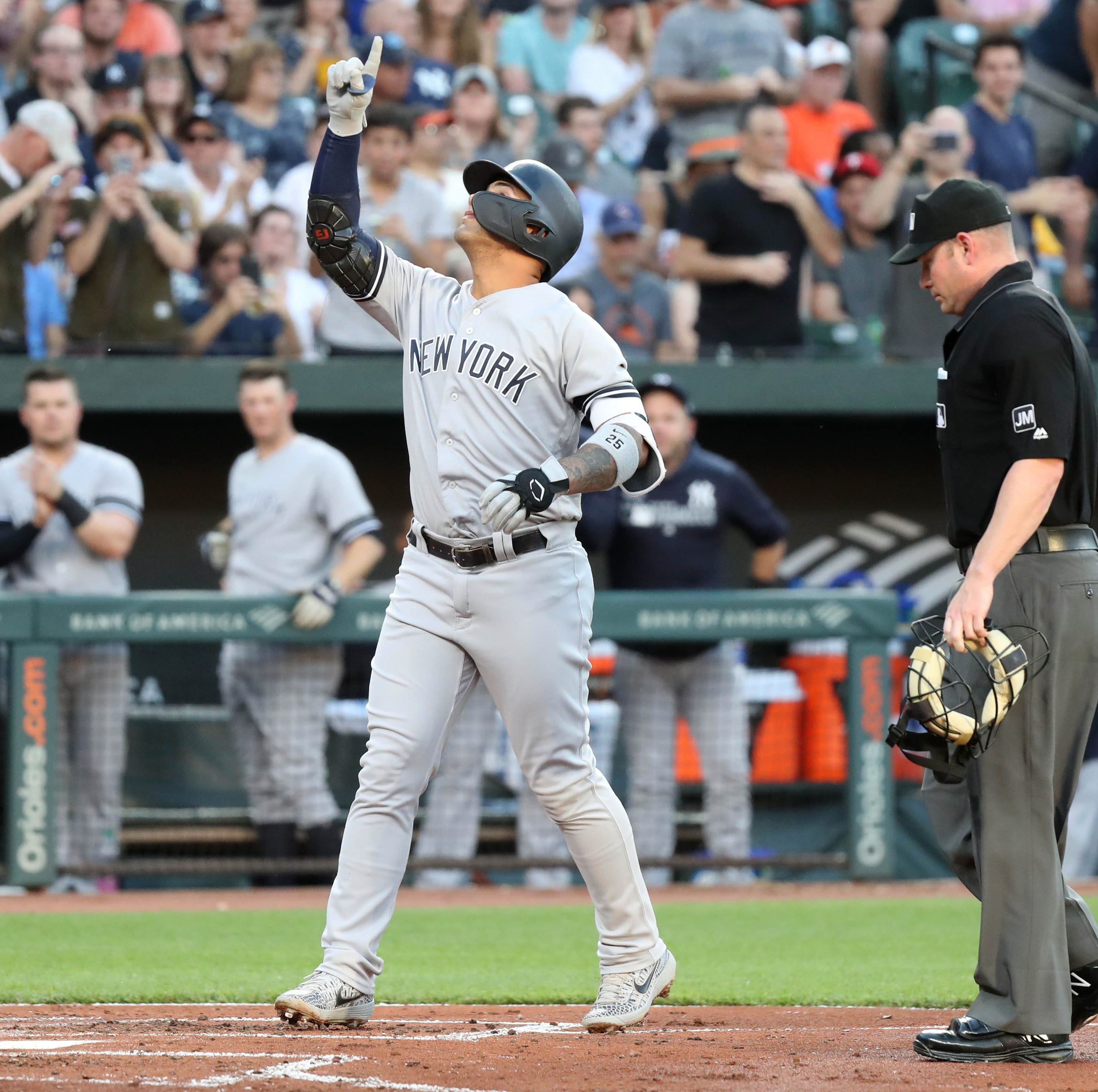 Gary Sanchez, Gleyber Torres power Yankees to comeback win over hapless Orioles