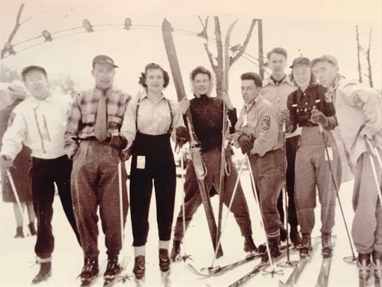 Robert Matthews, right, with members of the Ski Club of New Jersey.