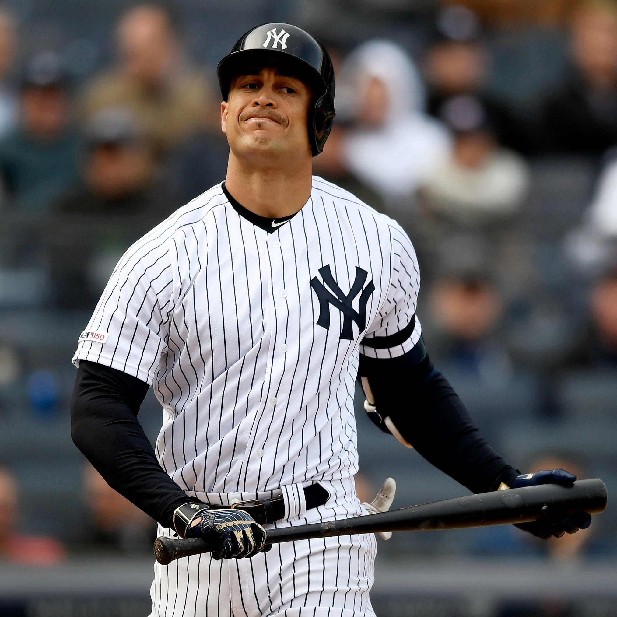 Giancarlo Stanton scratched from Yankees' rehab start; Aaron Judge does on-field activity