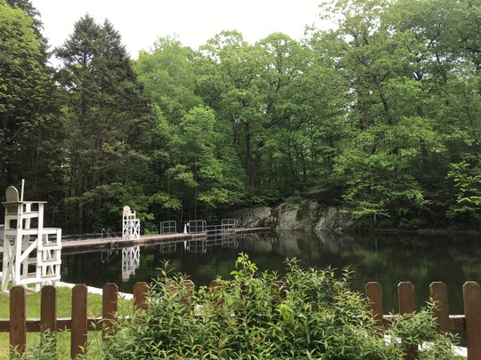 The tranquil Highlands Natural Pool in Ringwood, N.J., pictured on May 20, 2019. The pool is open to paying visitors and members each summer.