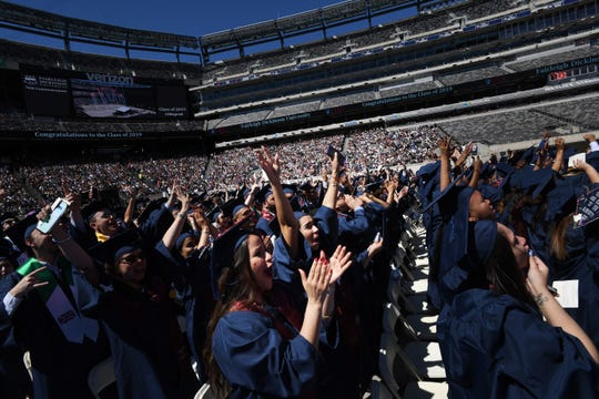Fairleigh Dickinson graduation ceremony at MetLife Stadium on Tuesday, May 21, 2019.