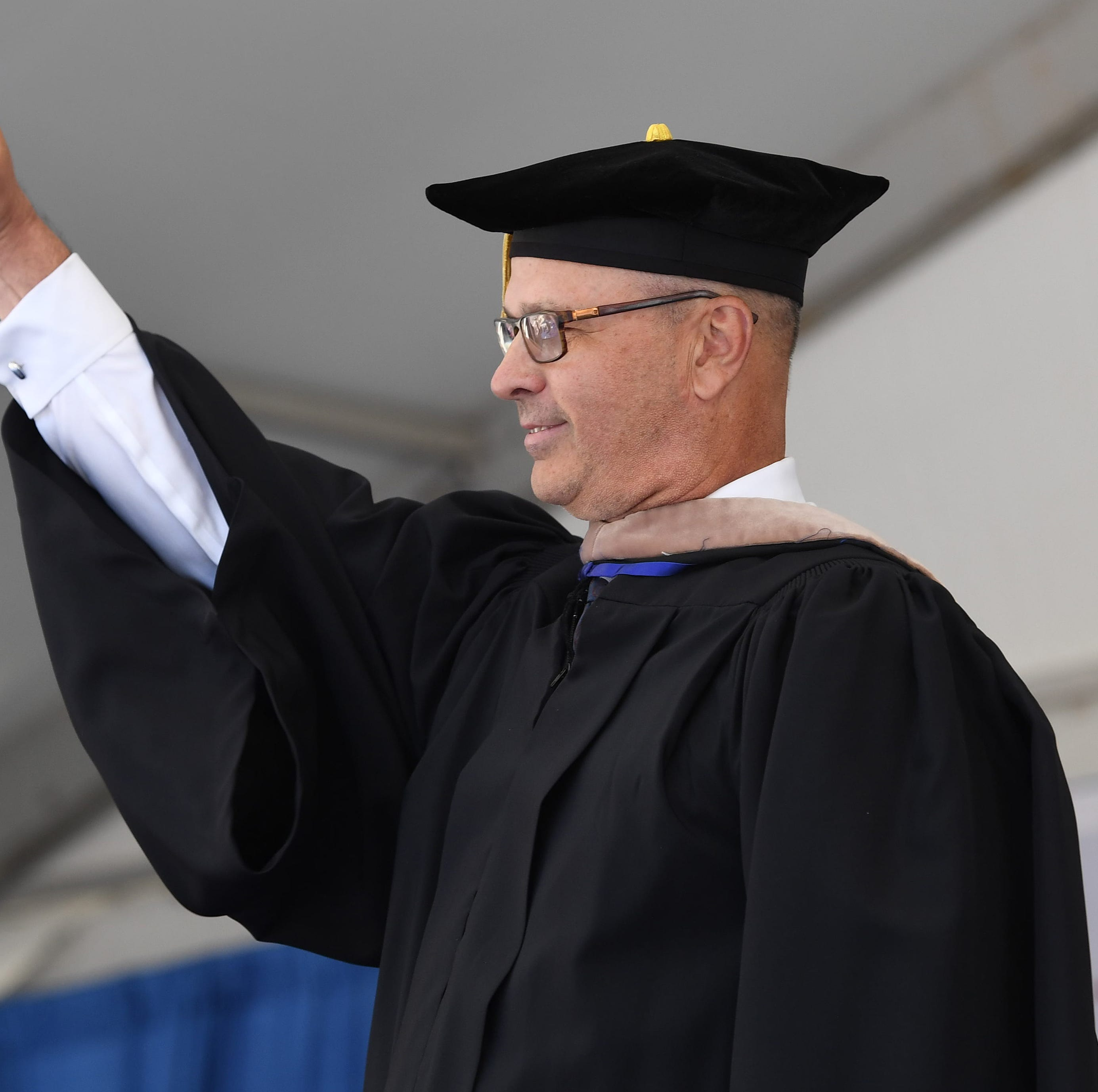Greg Herenda tells FDU's graduating class: Your exams are not over