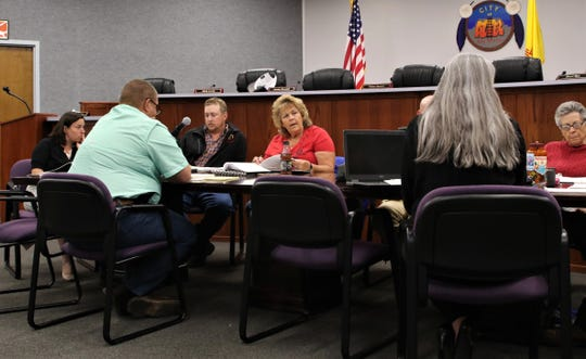 Aztec City Commissioners participate in a budget work session, Monday, May 20, 2019, at Aztec City Hall.