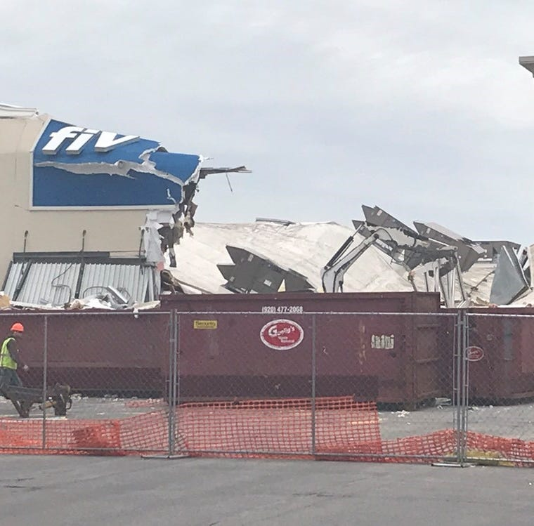 Crews are tearing down Five Below after its roof collapsed in March | Streetwise