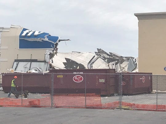 Five Below, 1520 S. Koeller St., is in the processed of being demolished after its roof collapsed. It's unclear what the next steps will be.