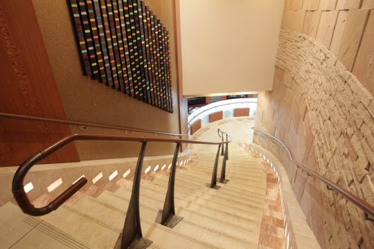 Stairs at the Vue Grille & Bar at the Indian Wells Golf Resort in Indian Wells on Thursday, February 27, 2014.
