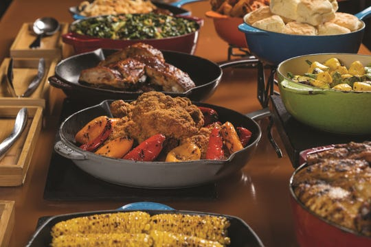 The Mirage Cravings Buffet includes eleven international cooking stations: Italian, Latin, American, Carving, Wok, Fishmonger and Crab Legs.