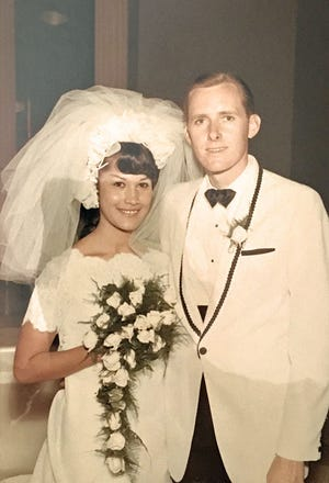 Jerry Myers and his wife, Juanita, on their wedding day, May 31, 1969, at Saint Thomas the Apostle Catholic Church in Phoenix.