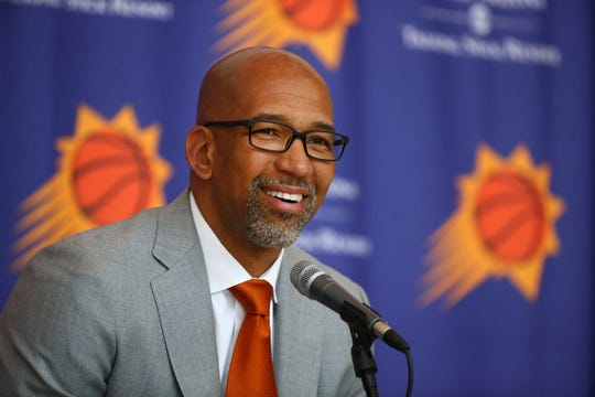 Monty Williams was introduced as the new head coach of the Phoenix Suns during a news conference on May 21.