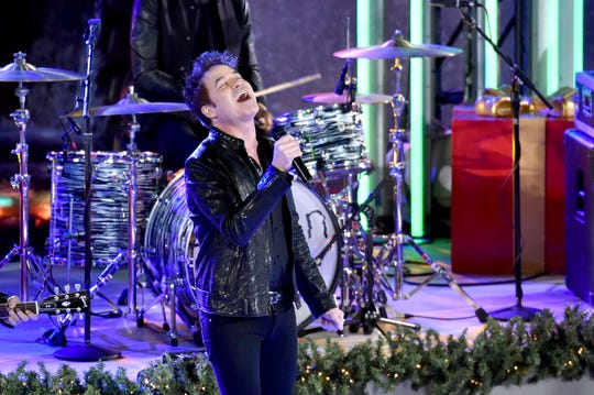 Patrick Monahan of Train performs during the 85th Rockefeller Center Christmas Tree Lighting Ceremony on Nov. 29, 2017 in New York City.