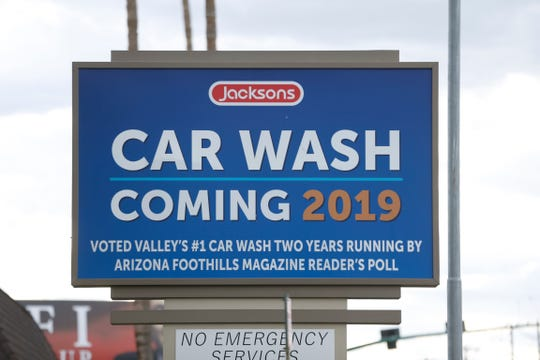 Jerry's, a diner in central Phoenix, will close its doors after 53 years of service in June. A car wash sign posted near the business in Phoenix, Ariz. on May 20, 2019.