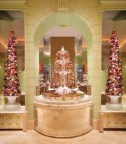 Chocolate fountain at The Buffet in the Wynn Las Vegas.