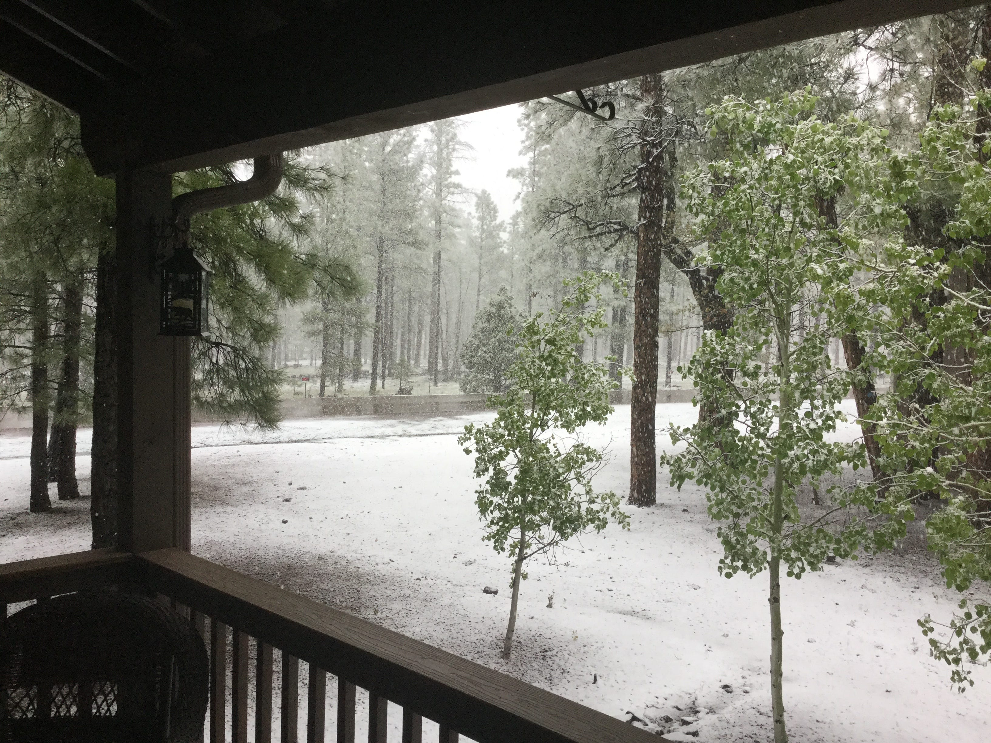 Arizona Weather Storm Brings Wind Rain Hail And Snow To