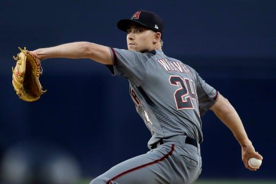 Diamondbacks starter Luke Weaver allowed two runs with seven strikeouts in six innings in San Diego on Monday.