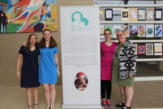 Palmyra resident Holly Hockenberry, far right, with daughters, from left, Patricia, Nikkilee and Maggie-May, was recently honored  by Milton Hershey School as one of three inaugural winners of the Parent/Sponsor of the Year Award