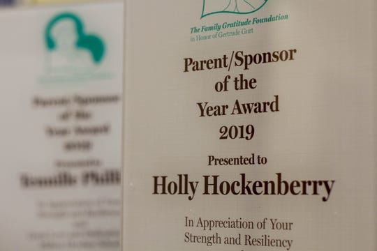 The newly created Family Gratitude Foundation at Milton Hershey honored Palmyra resident Holly Hockenberry recently with one of three Parent/Sponsor of the Year Awards.