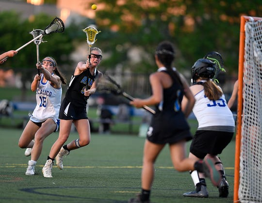 Kennard-Dale's Megan Halczuk takes a shot on goal against Cocalico during the District 3 Class 2-A girls' lacrosse semifinal, Monday, May 20, 2019.  John A. Pavoncello photo