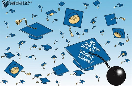 Student Loan toss, Morehouse College, billionaire investor Robert F. Smith billionaire, student loan, 2019 Morehouse graduates