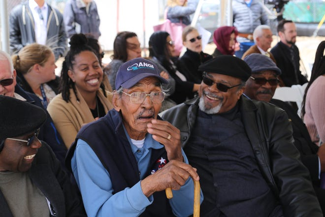 Attendees celebrate the groundbreaking of the Willie J. Wynn Apartments affordable housing project on May 21, 2019.