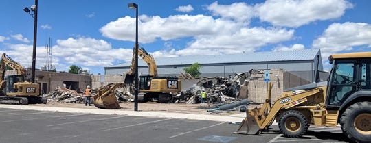 The demolition of the old Public Safety Complex will make room for increased parking at the Lyon County Justice Complex.