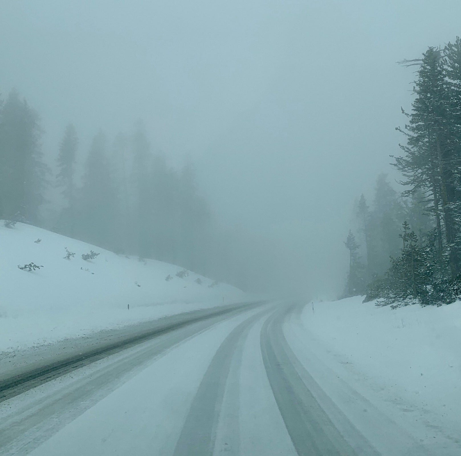Drivers, beware of wintry conditions in the Sierra