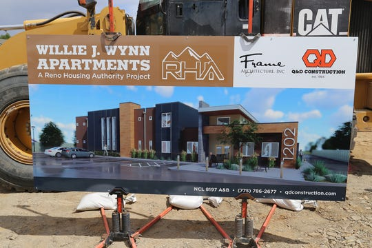 A rendering of the Reno Housing Authority's Willie J. Wynn Apartments affordable housing project taken on May 21, 2019.