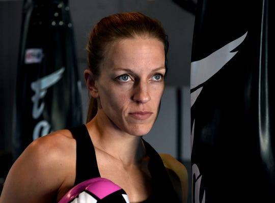 MMA fighter Jessica Locke poses for a photo at the Momentum Martial Art where she is training to fight in the WFC: World Fighting Championships on May 31 at Greater Nevada Field.