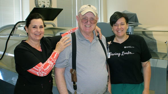 Michael Nesbit continues his fight against prostate cancer with the help of hyperbaric oxygen therapy.