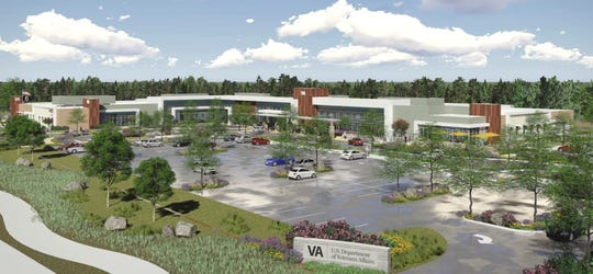 Artist's rendering of the proposed Redding VA Outpatient Clinic at 3455 Knighton Road.