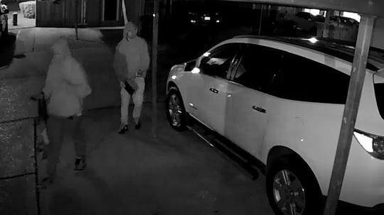The Shreveport Police Department is asking for help identifying two people they believe is responsible for a vehicle burglary on Loma Vista Drive.
