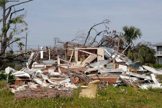 What was once a home in Mexico Beach is a pile of rubble more than 200 days after Hurricane Michael struck the Panhandle.